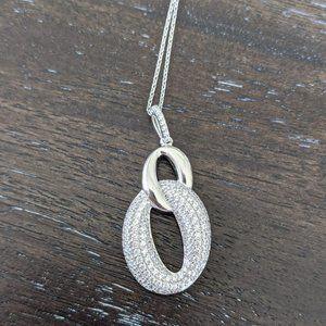 JTV Sterling Silver Together Forever Necklace
